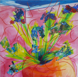 Brainstorm, 2012, acrylic/canvas, 100×100 cm